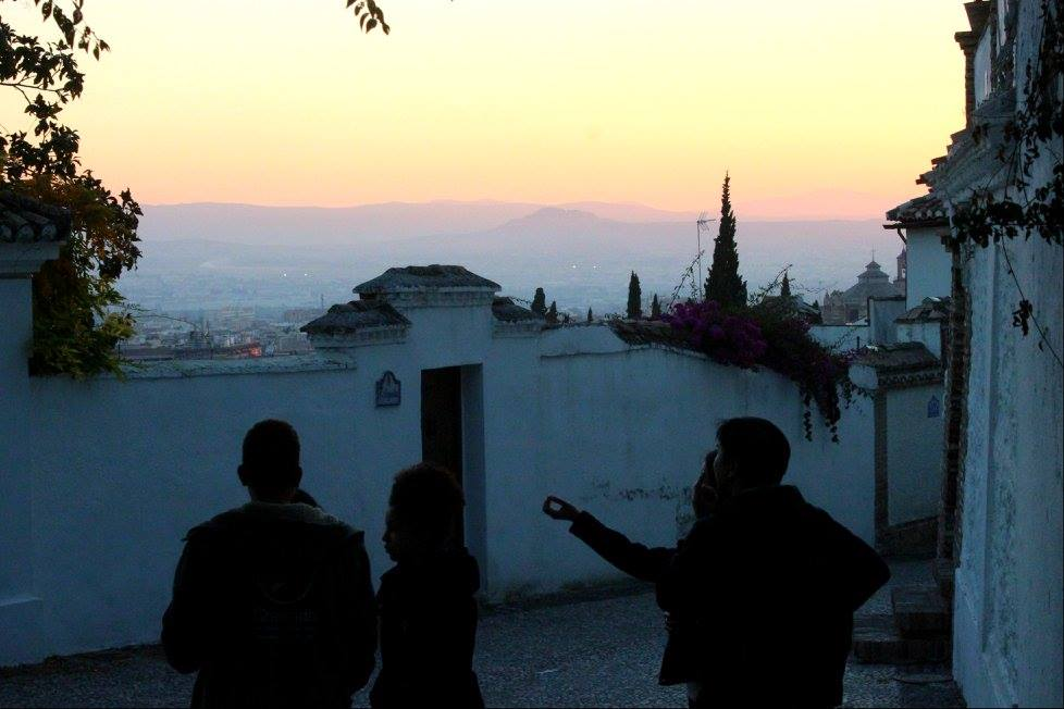 beautiful sunset in Granada