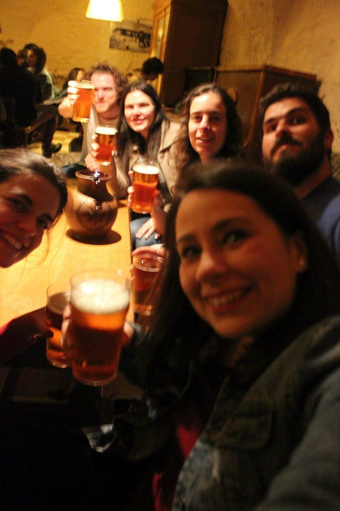 latvian beer at the best bar in riga