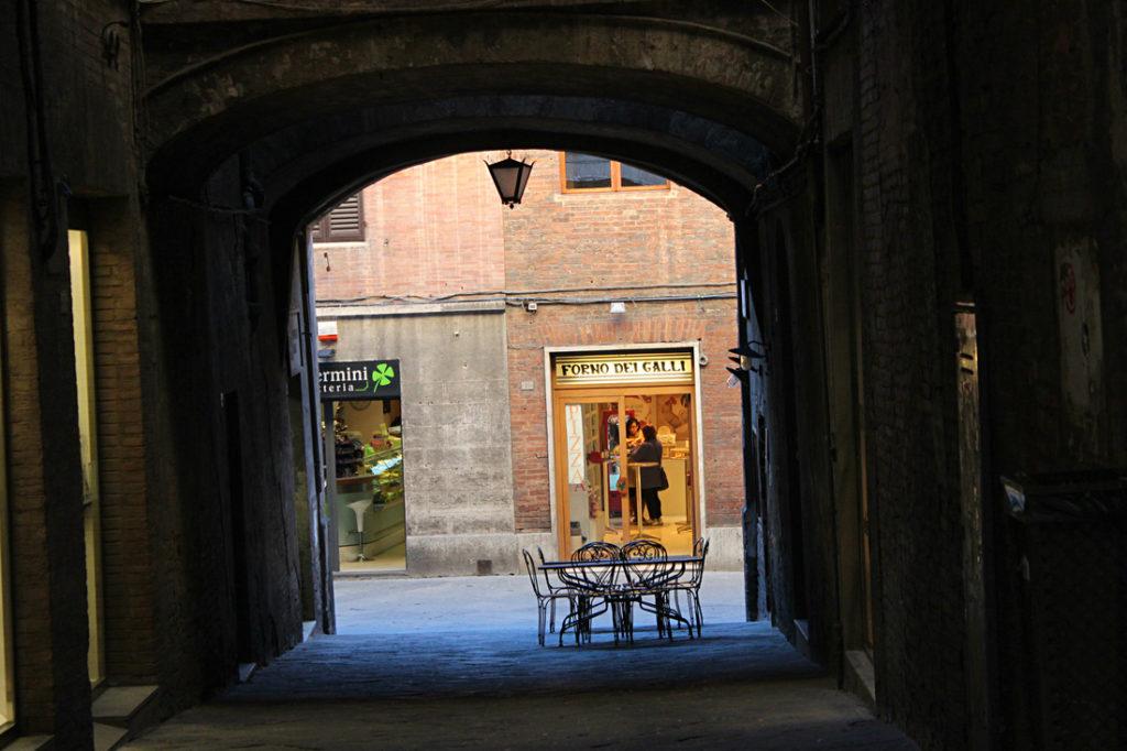 street passage in Siena