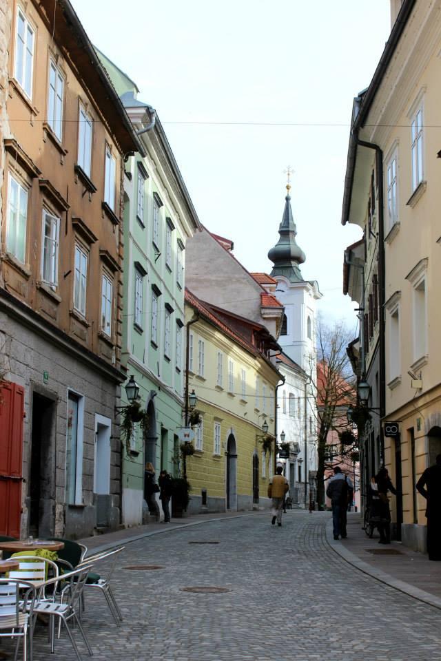 colorful buildings in ljubljana