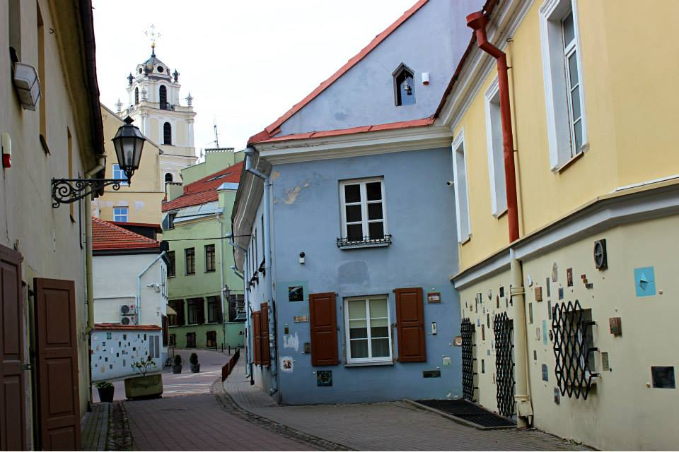 colorful street of the artists in Vilnius