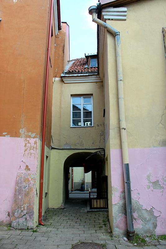 colorful alley in vilnius