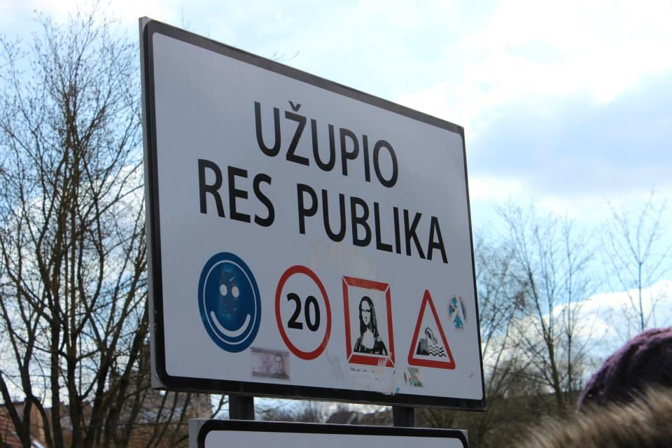 Uzupis sign in Vilnius