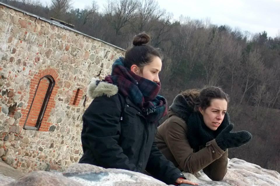 Girls at Gediminas Castle Tower