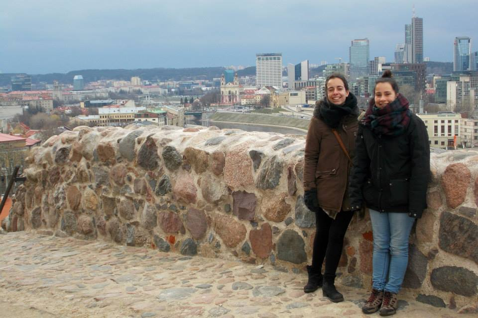 Girls at Gediminas Castle Tower in Vilnius
